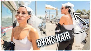 Dying my hair in public...