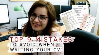 Top 9 CV Mistakes to Avoid