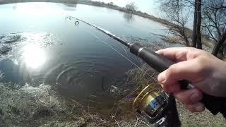 Джиговая рыбалка с берега по реке Оскол