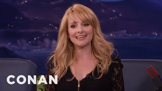 melissa rauch loved shopping for her nude body double conan on tbs