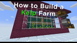 How to Make an AUTO KELP FARM in #Minecraft 1.16