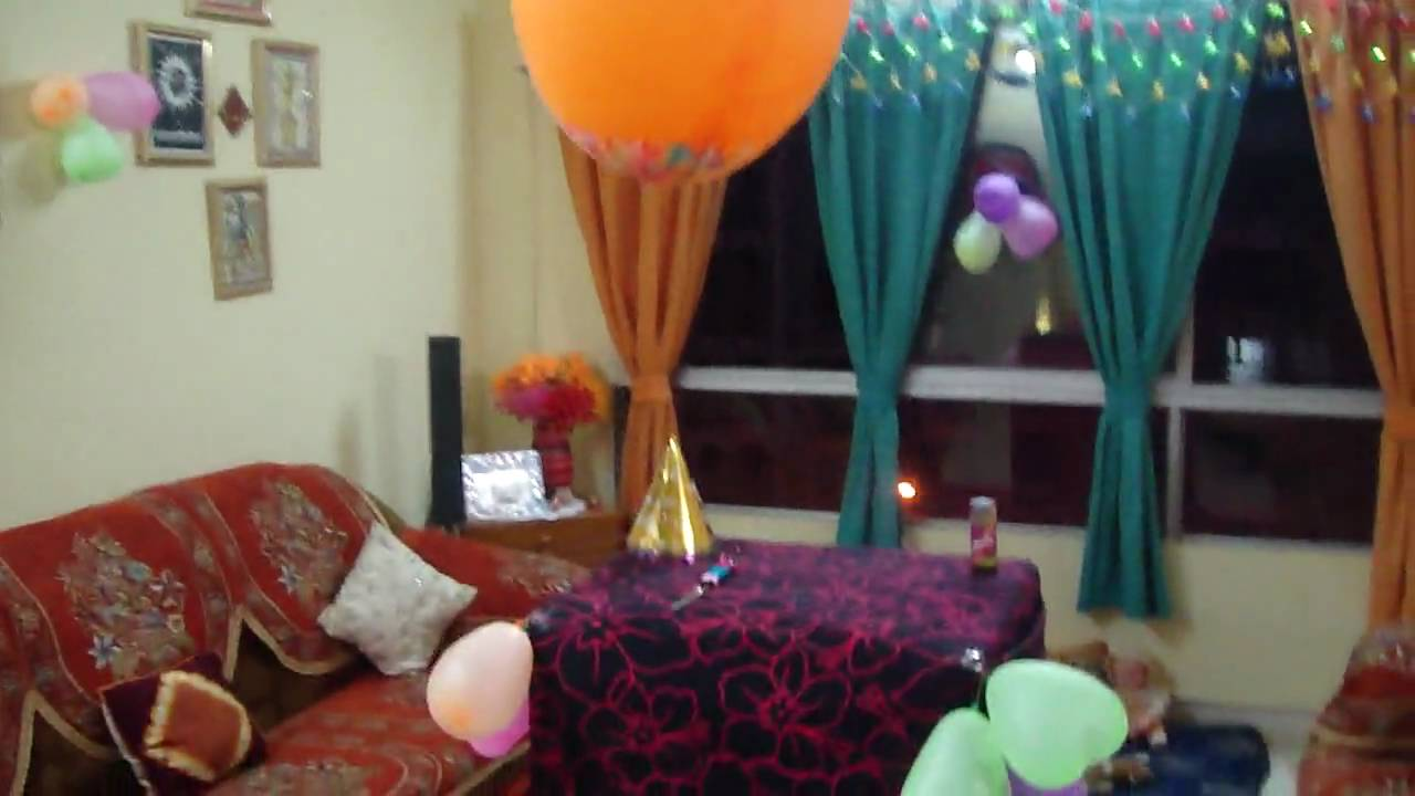 Srishti 39 s b 39 day home decoration youtube for B day decoration