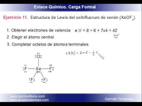 Estructura De Lewis Y Carga Formal Para El Oxitetrafluoruro
