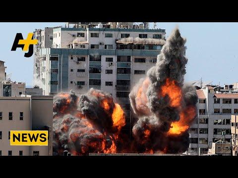 Israel Bombs Al Jazeera Office In Gaza