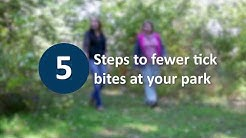 5 steps to fewer tick bites at your park