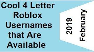 three letter username roblox