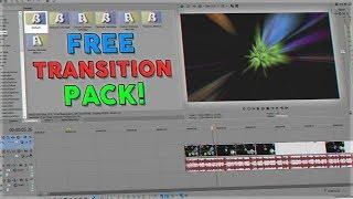 FREE SONY VEGAS PRO TRANSITION PACK!!