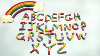 Play Doh Rainbow Alphabet | Play Doh ABC | ABC Song | Alphabets Phonics Song