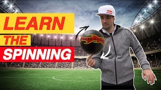 "#26 FREESTYLE FOOTBALL TUTORIAL - ""The Spinning\"" be a champion with SEAN GARNIER"