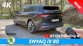 Škoda Enyaq iV 80 2021 - Review in 4K | CRAZY (S-Class) Head-Up Display and Ambient lights in dark.