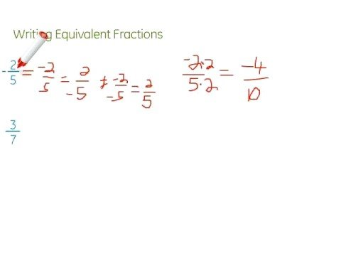 write two equivalent fractions The three fractions are equivalent fractions because they represent the same amount of cake, half of it in this case how can we know if two fractions are equivalent by cross-multiplication this method consists of cross-multiplying the two fractions: examples of equivalent fractions are the following equivalent fractions.