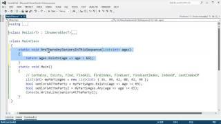 Compares C# List methods to LINQ extention method alternatives.