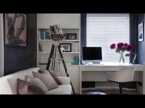 Красивый Дизайн квартиры 38 кв.м. Чёрно-белый Интерьер маленькой квартиры-студии (однокомнатной)