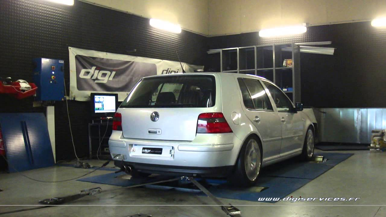 reprogrammation moteur vw golf 4 1 8 turbo 150cv 191cv dyno digiservices paris youtube. Black Bedroom Furniture Sets. Home Design Ideas