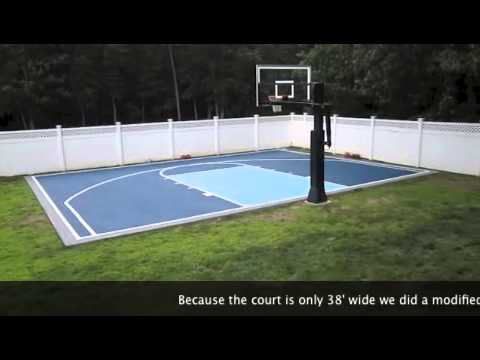 Basketball Court Painted In Unc Colors Youtube