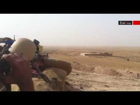 Sniper shootout: US Marines fighting alongside Ezidi forces against ISIS