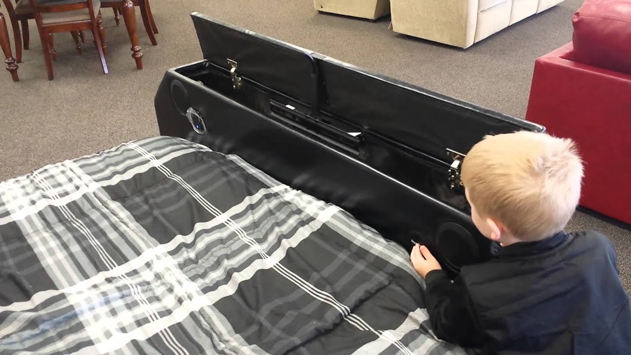 Footboard With Hidden Tv Pop Up Youtube