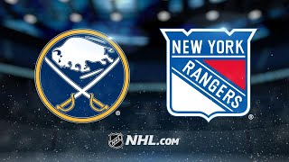 Rangers top Sabres on Buchnevich's late goal