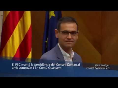 El PSC Manté La Presidència Del Consell Comarcal Amb JuntsxCat I En Comú Guanyem