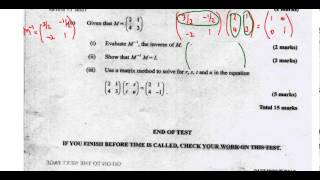 csec cxc maths past paper 2 question 11b may 2013 exam solutions act math sat math