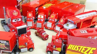 Disney Pixar Cars All Red Trailer Mack Toy タキロンすぽすぽボックス