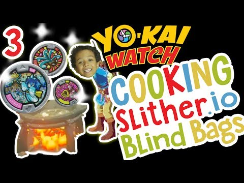 how-to-cook-yo-kai-watch-medals-+-gummy-worms-=-slither.io-blind-bags!-;)-✳-tottychocho