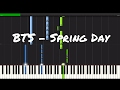 BTS Spring Day Piano Tutorial mp3