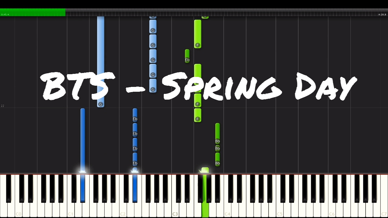 Spring Day Bts Piano