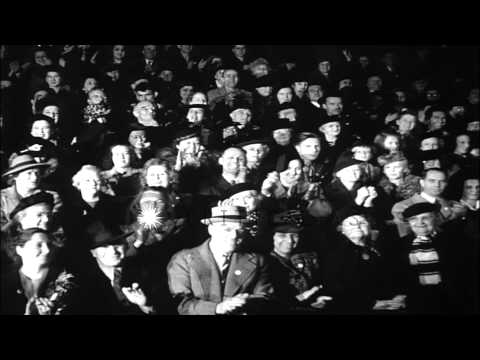 Actors Clark Gable, Robert Taylor, Dick Powell, Shirley Temple on stage for the G...HD Stock Footage