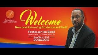 Faculty Of Social Sciences - Orientation 2017