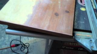 Recycling An Old Coffee Table To Make A Desktop For The Airstream