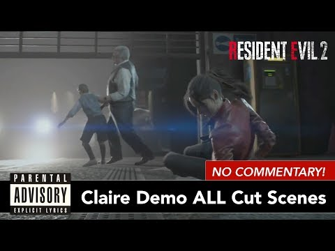 NO COMMENTARY Claire Demo Resident Evil 2 Remake | All Cut Scenes Movie