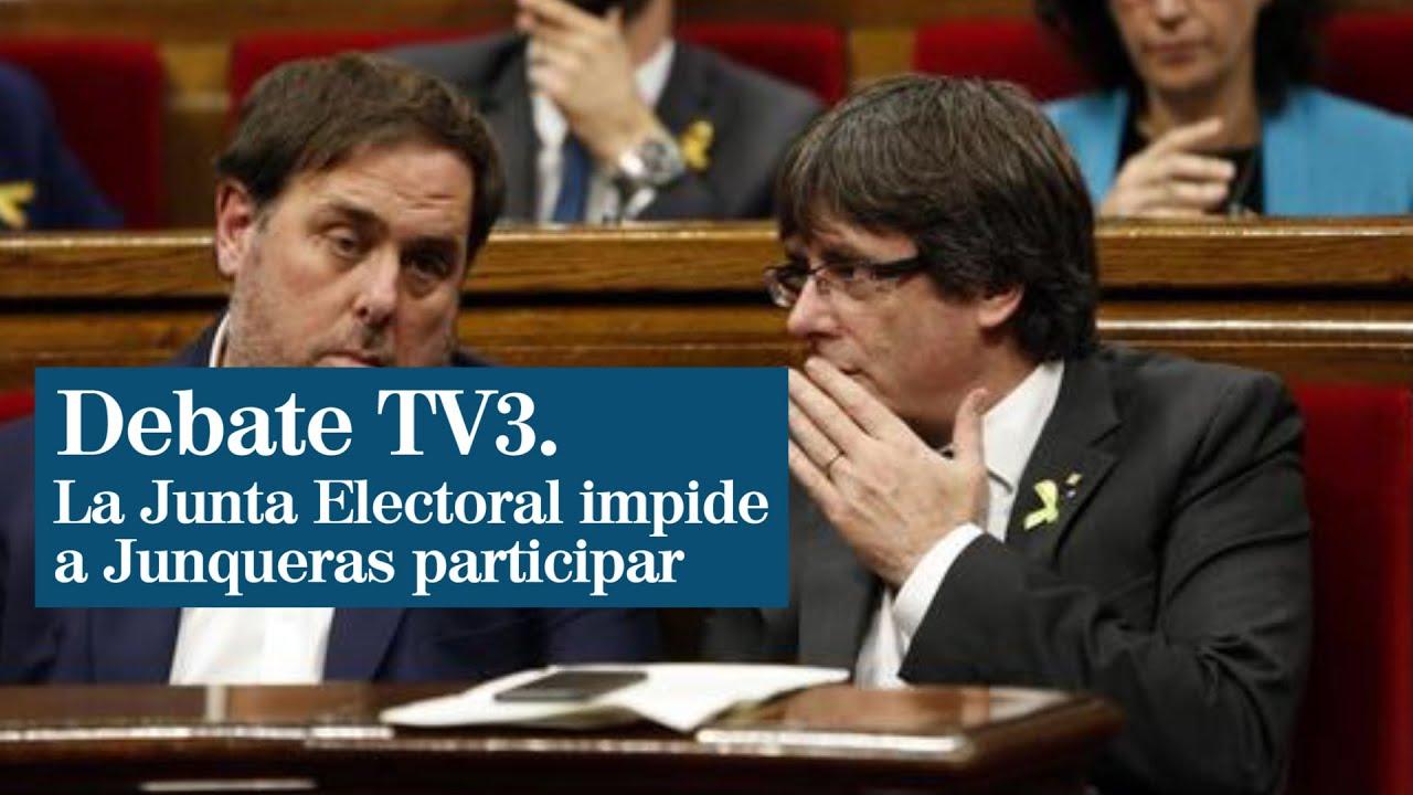 La Junta Electoral impide a Junqueras y a los fugados Comín y Ponsatí participar en el debate de TV3