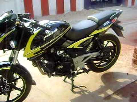 Bike stickering designs for pulsar 150 - New Bajaj Pulsar 220 S Wid Grfx Avi Youtube