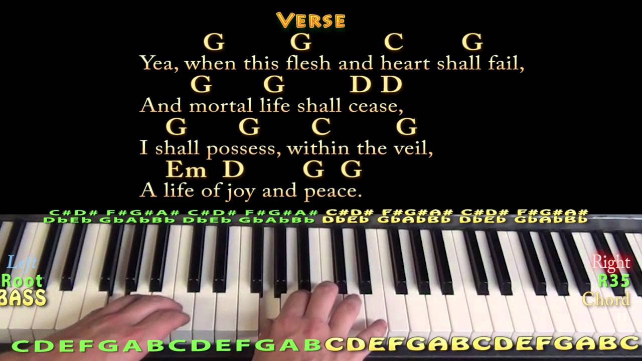 Amazing Grace Hymn Piano Cover Lesson with Chords/Lyrics