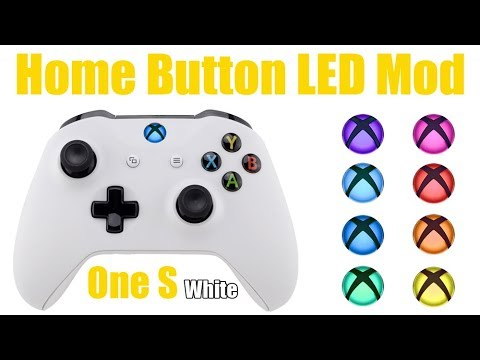 Extremerate Xbox One S WHITE Controller Home Button LED Mod Toturial