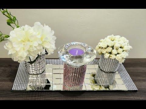 DIY table center piece   home decor ideas for living room