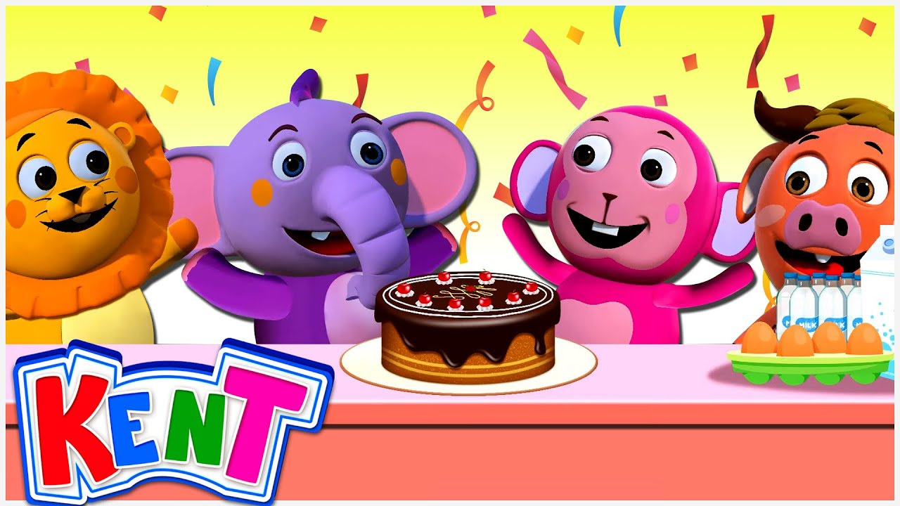 Kent The Elephant   Sharing A Cake   Learning Sharing Is Caring   Learning Videos For Kids