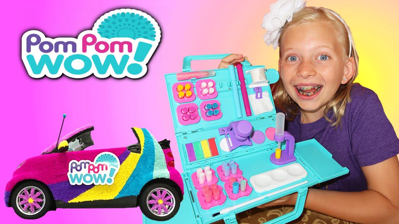 Diy Pom Pom Craft Time Fun With Alyssa Youtube