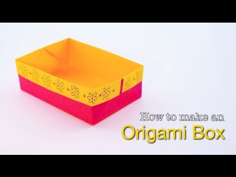 How To Make An Easy Origami Box Paper Box Tutorial Youtube