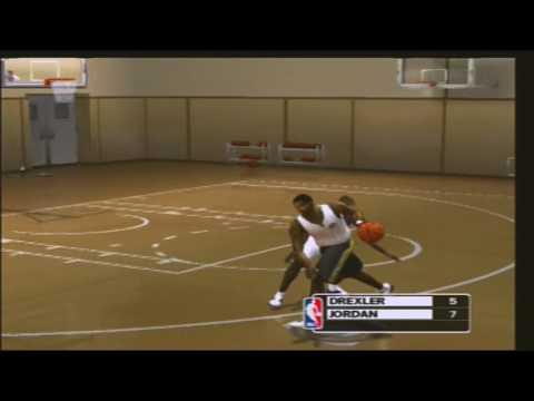NBA Live 2003 ONE ON ONE Clyde Drexler vs Michael Jordan