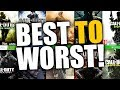 TOP 10 CALL OF DUTY GAMES... BEST TO WORST!