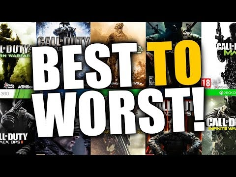 TOP 10 CALL OF DUTY GAMES... RANKED BEST TO WORST!