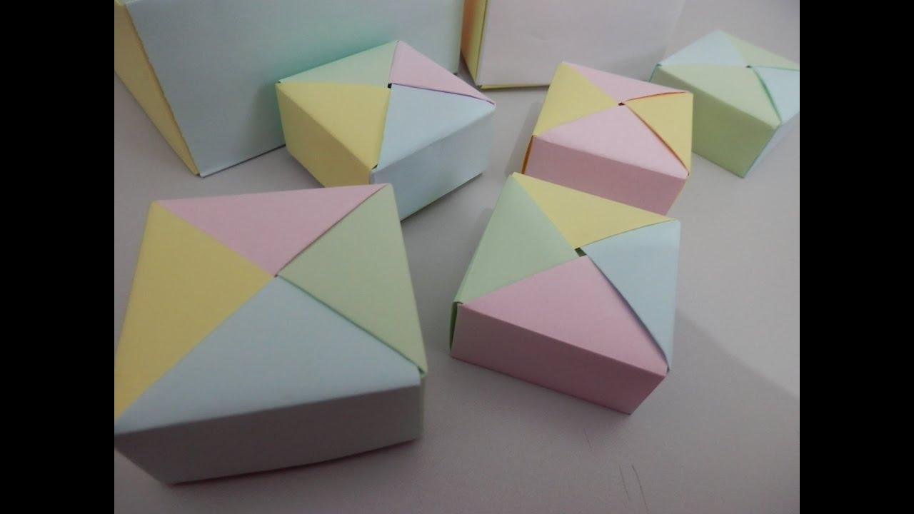 Artesanato Dos Estados Unidos ~ Origami Caixinha 1 YouTube