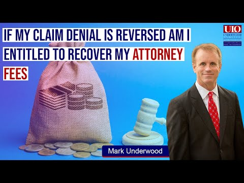 If my ERISA claim denial is reversed can I get disability insurance lawyer fees?