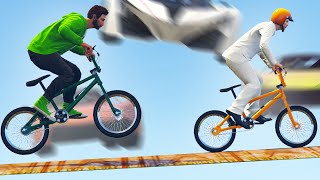 HIT THE BIKERS AT 200MPH! (GTA 5 Funny Moments)