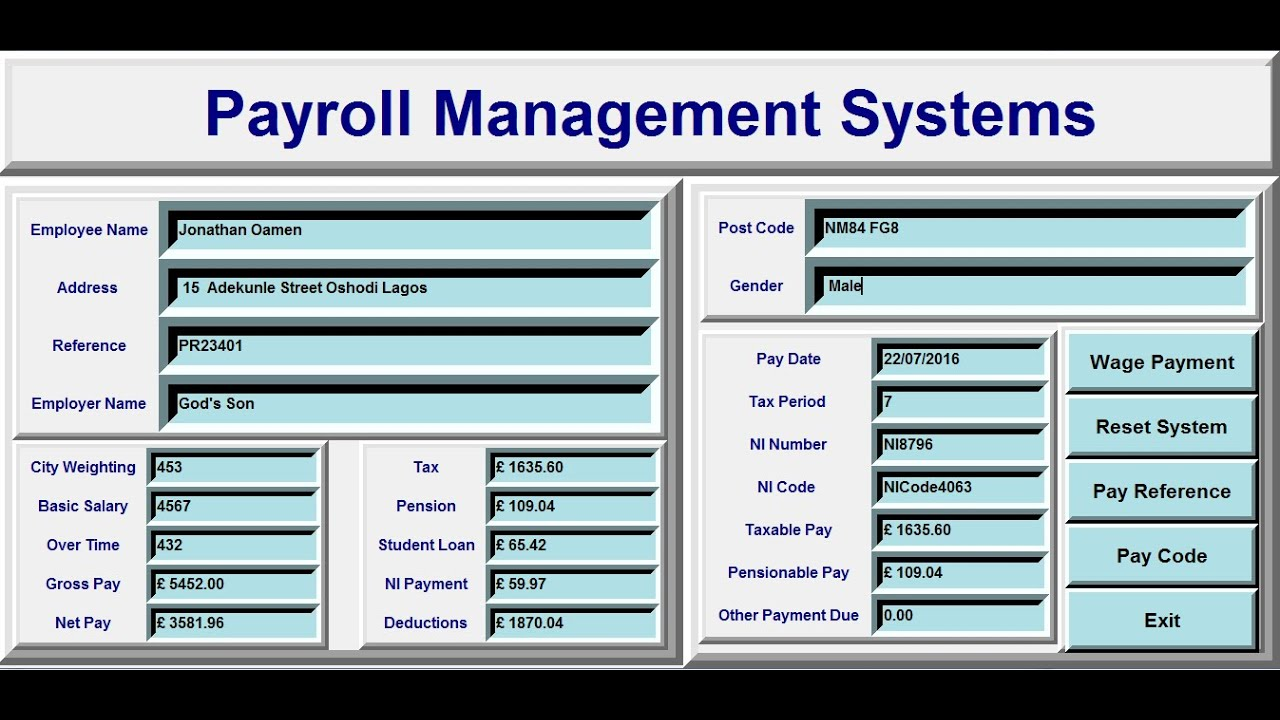 How To Create Payroll Management Systems In Python Full