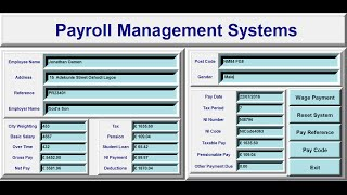 How to create a gui payroll management systems in python using frames, buttons, labels, entry, text and function definition