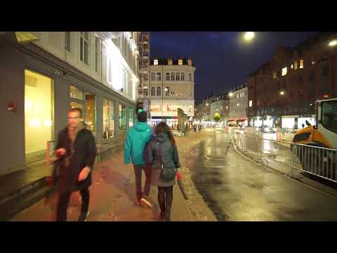 Denmark, Copenhagen, Vesterbrogade, short walk @night