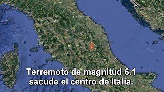 Un nuevo terremoto de magnitud 6.1 sacude el centro de Italia.